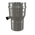 Redukcja z odskraplaczem dwuścienna MKPS Invest MK ŻARY  Ø 60/100 na 80/125mm