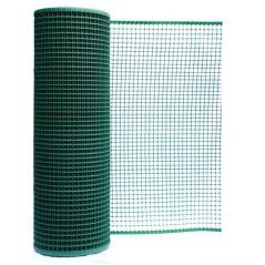 Siatka pvc kwadra 10 oczko 10mm 1.0 m*50mb zielona