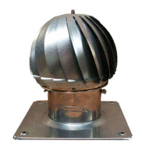 Nasada Turbomax 1 SREBRNY Ø 180mm z podstawą rurową ocynk