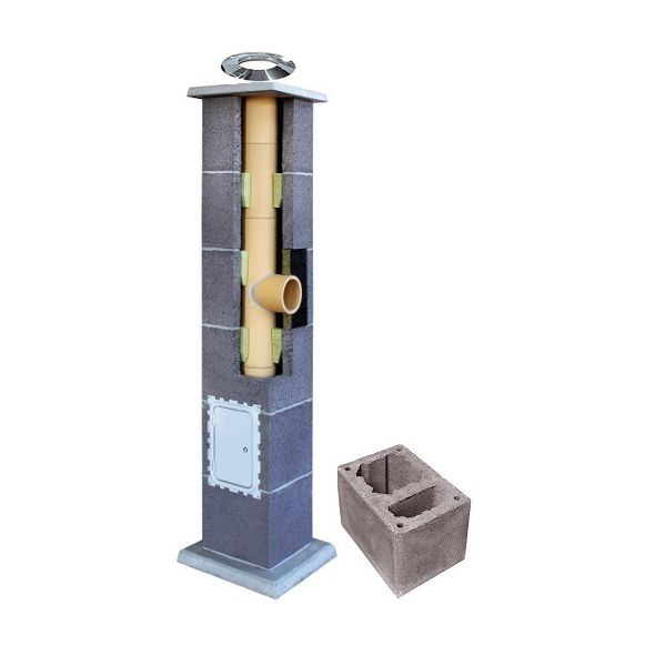 System Kominowy Ceramiczny LEIER Basic Ø 140mm z wentylacją