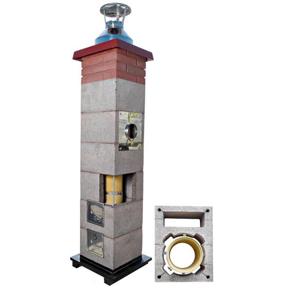 System Kominowy Ceramiczny CJBLOK Turbo SKC-T Ø 100mm z wentylacją