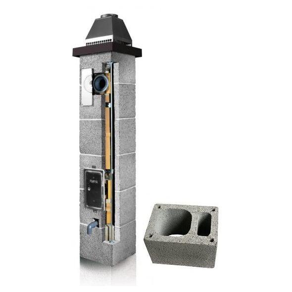 System Kominowy Ceramiczny PLEWA Osmo Las Ø 140mm z wentylacją