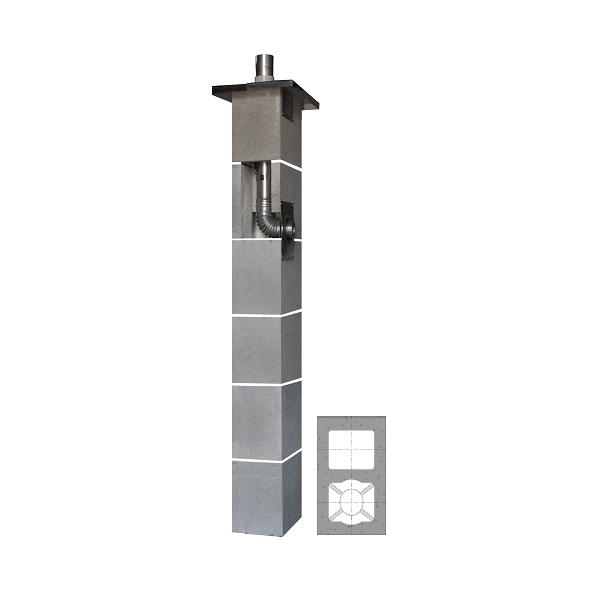 System Kominowy Stalowy JAWAR KS Ø  80mm z wentylacją