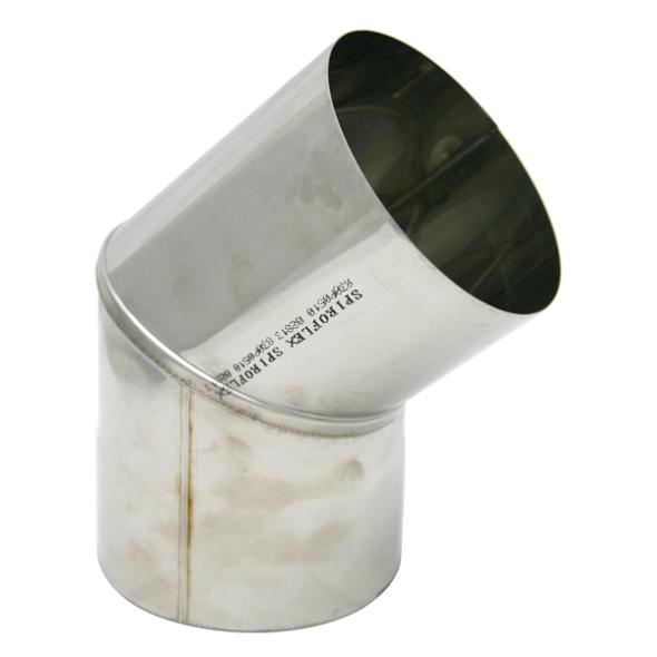 Kolano stałe 45° kwasoodporne SPIROFLEX Ø 160mm