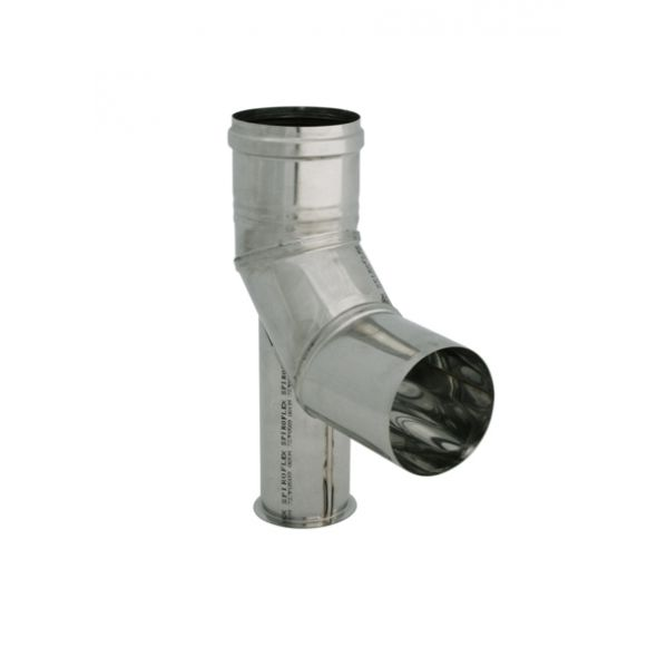 Kolano 90° z podstawką nierdzewne jednościenne Turbo SPIROFLEX Ø  80mm