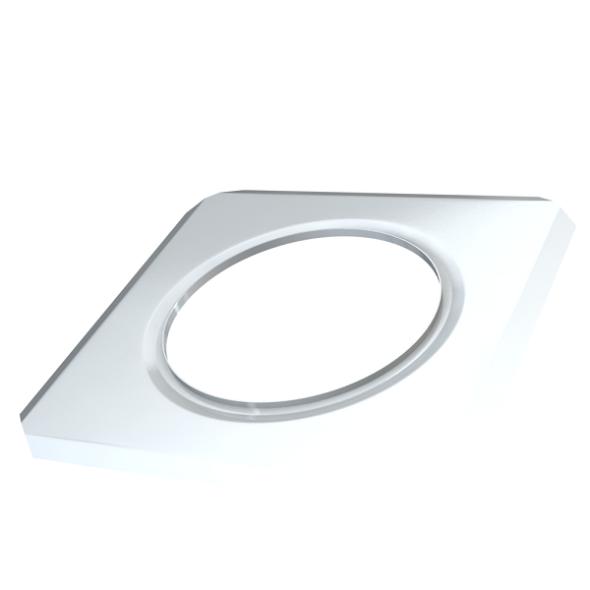 Rozeta ścienna kwadratowa MKPS Invest MK ŻARY Ø 125mm biała