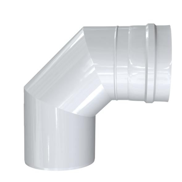 Kolano 93° dwuścienne MKPS Invest MK ŻARY  Ø 80/125mm białe