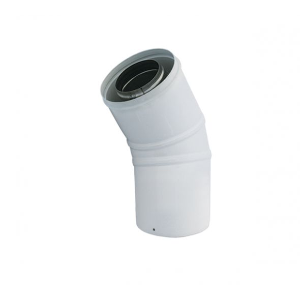 Kolano 45° białe dwuścienne Turbo SPIROFLEX Ø  80/125mm