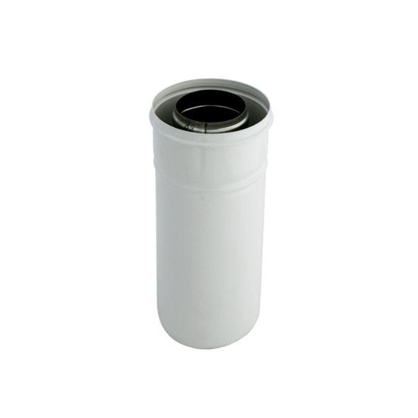 Rura biała dwuścienna Turbo SPIROFLEX Ø  80/125mm 0,25mb